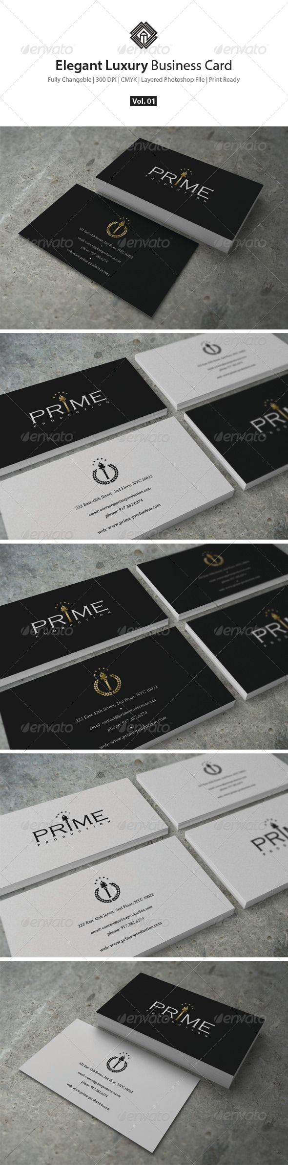 elegant luxury business card template psd buy and download