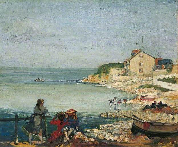 Conder, Charles, (1868-1909), Beach Scene, Swanage, 1900, Oil