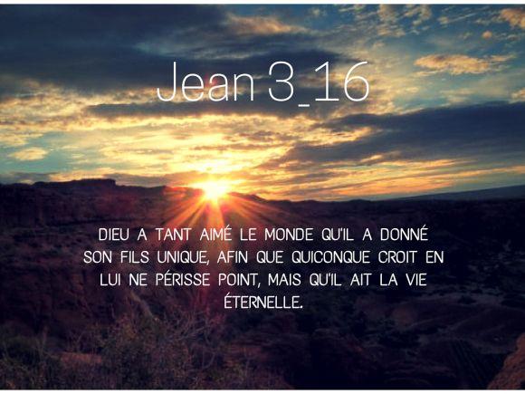 Jean 3:16 Best verset ❤