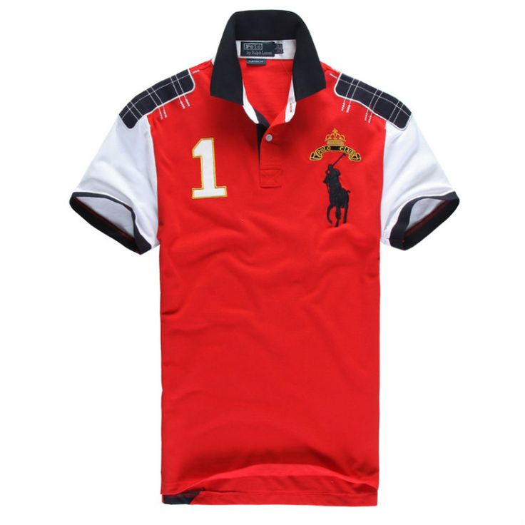 Ralph Lauren Men\u0026#39;s No.1 Club Short Sleeve Polo Shirt Red http://