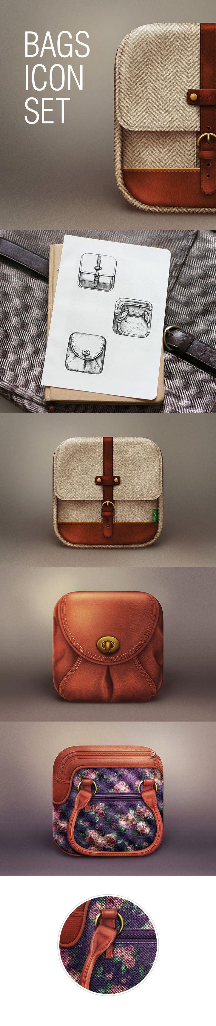 Bags icon set