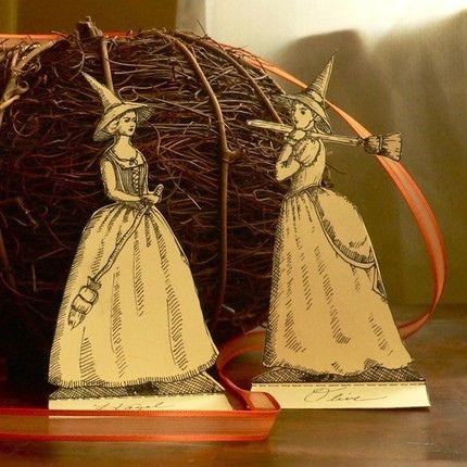 Witches.Vintage Halloween, Halloween Stuff, Halloween Witches, Halloween Costumes, Vintage Wardrobe, Witches Parties, Costumes Halloween, Paper Witches2, Vintage Decor