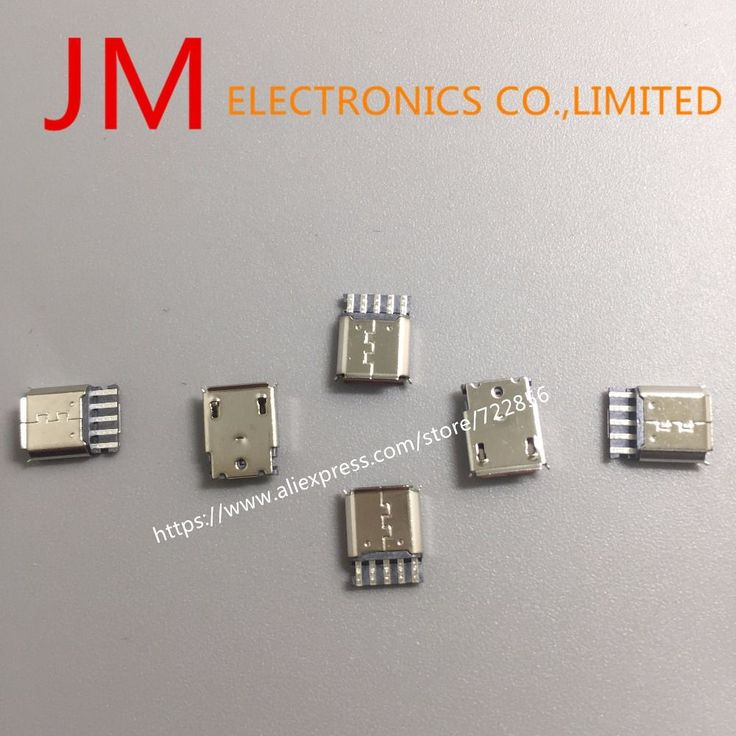 50pcs/lot Micro USB 5pin Female Socket Connector Welding Type for Tail Charging Mobile Phone Free Shipping #Affiliate