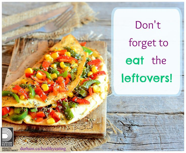 Using leftovers from the night before is a great way families can save time, money and reduce food waste. You can incorporate them when you make your menu plan. Take a look at page 10 of this resource for some great ideas!