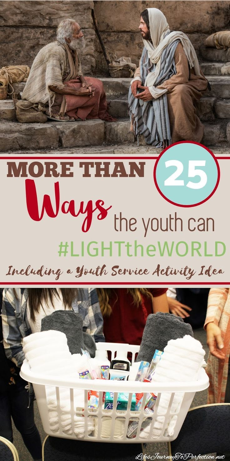 More than 25 ideas of how the youth can share their lights to light the world. Included is a Combined Youth Service Activity.