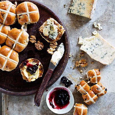Taste Mag | Hot cross buns with cheese and preserves @ http://taste.co.za/recipes/hot-cross-buns-with-cheese-and-preserves/