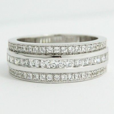 What could be better than to #gift this 14k white gold anniversary ring to express love