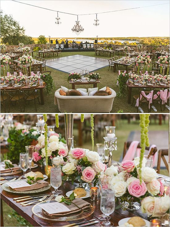The Open And Whimsical Wedding Reception Allows For A Feeling Of Community  Among The Guests.