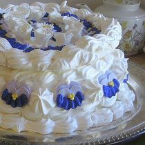 Spanische Windtorte . Austria . { spanische windtorte . or . spanish wind cake . a famous Austrian dessert . rings of meringue . filled with whipped cream & berries . the Great British Bake Off 2015 . Episode4 . technicalchallenge } .