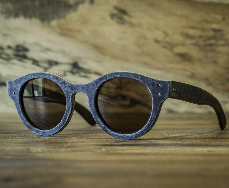 Anteojo de madera y jean, lentes de sol - Nomade
