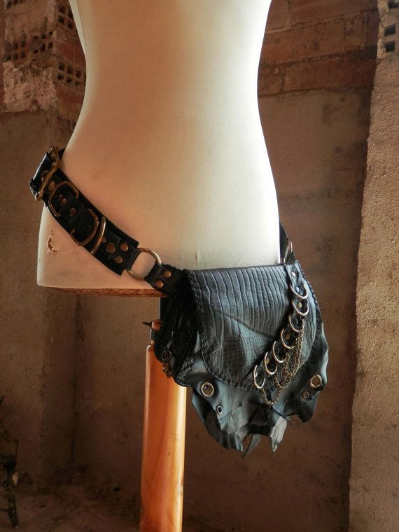 Steampunk pirate handmade leather utility by TximeletaCreations