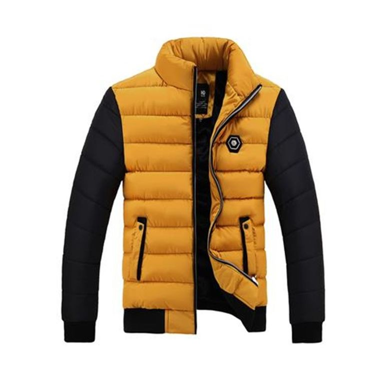 (34.99$)  Watch here - http://aiaqu.worlditems.win/all/product.php?id=32779821001 - Men Down Jacket Thick Warm Padded Coat 2016 Brand Parka Men Winter Jacket Fashion Quality Down Parka Solid Cotton Coat MaleCM588
