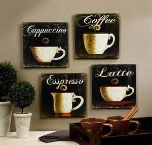 Coffee Cup Theme Kitchen Wall
