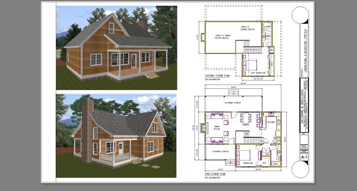 two bedroom cabin plans with loft 2