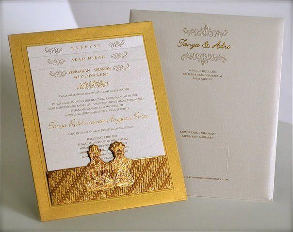 Batik & javanese couple invites!