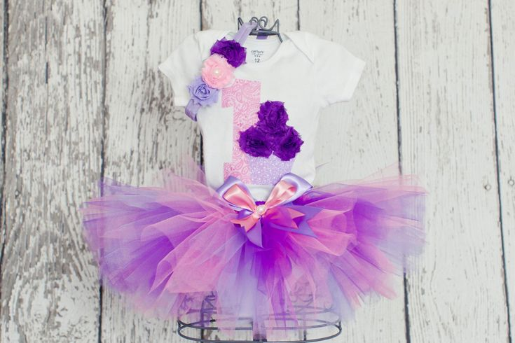 Baby Girl 1st Birthday Outfit3 Piece Sewn by OneLovelyLittleLady, $48.00