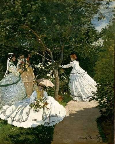 """""""Women in the Garden"""" 1866."""