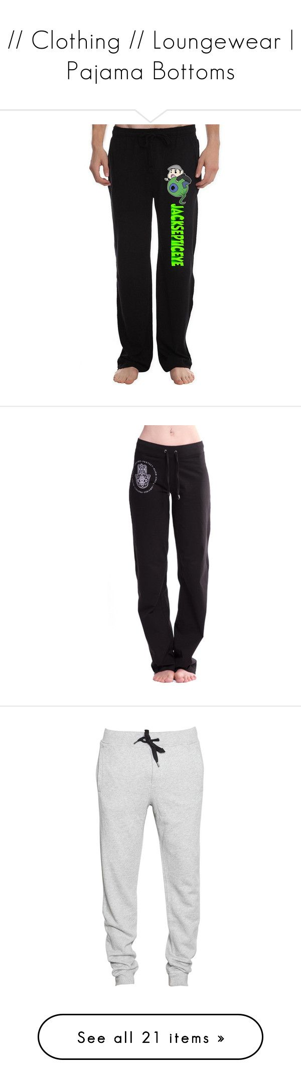 """""""// Clothing // Loungewear   Pajama Bottoms"""" by xxsweet13etrayalxx ❤ liked on Polyvore featuring men's fashion, men's clothing, men's activewear, men's activewear pants, mens sweat pants, mens activewear, mens activewear pants, mens sweatpants, men's sleepwear and black"""