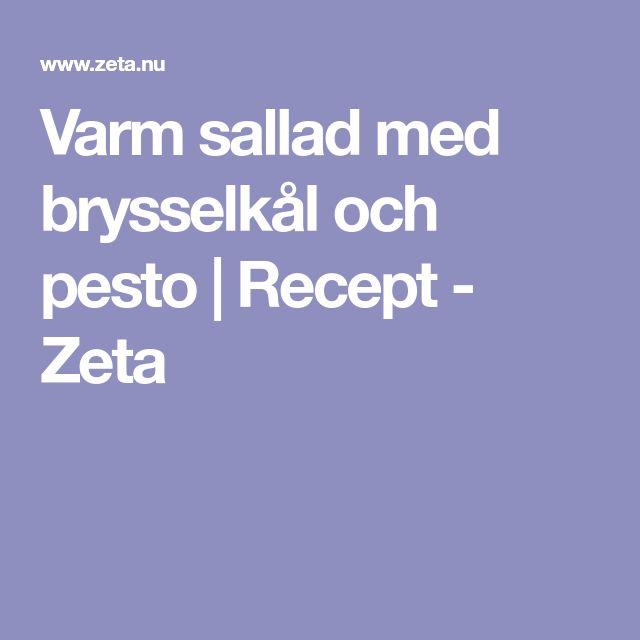Varm sallad med brysselkål och pesto | Recept - Zeta