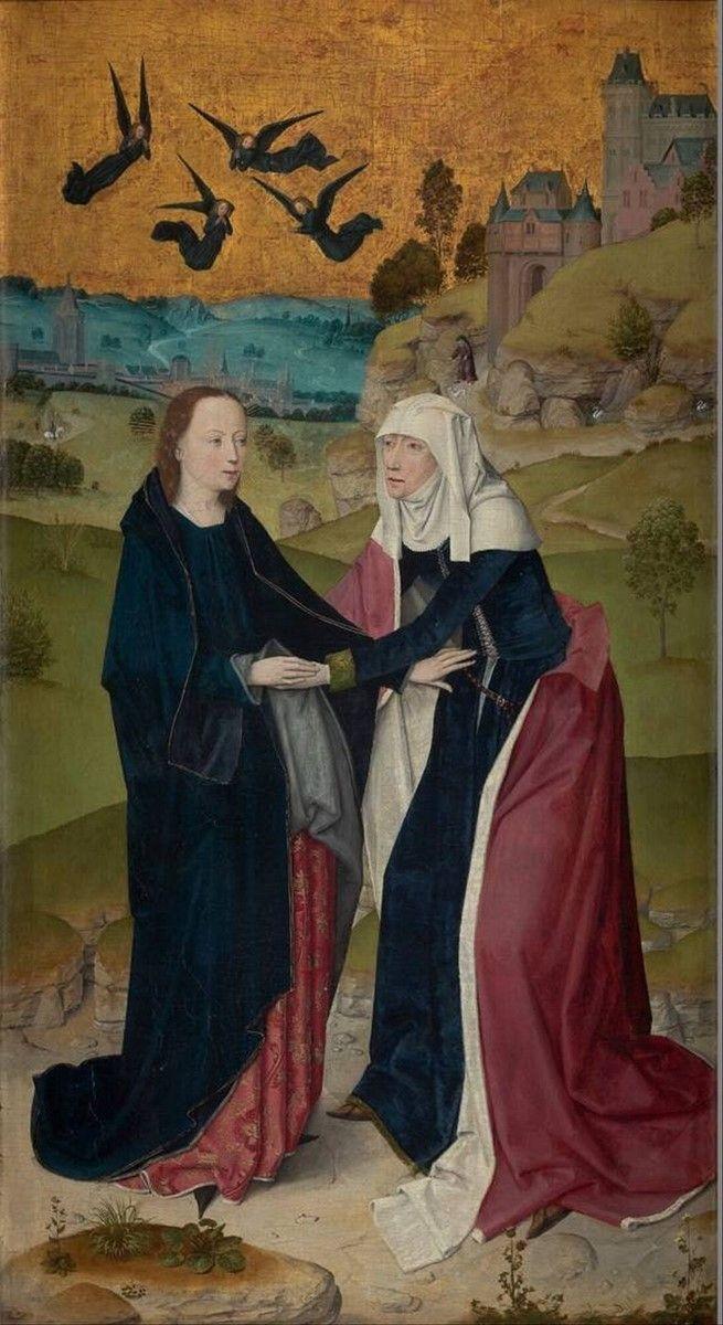 The Visitation Painter Meester van het Leven van Maria, werkzaam Keulen/active Cologne ca. 1460 - 1490 1465 - 1475 Dimensions 104 x 57,6 cm Material and technique oil on panel