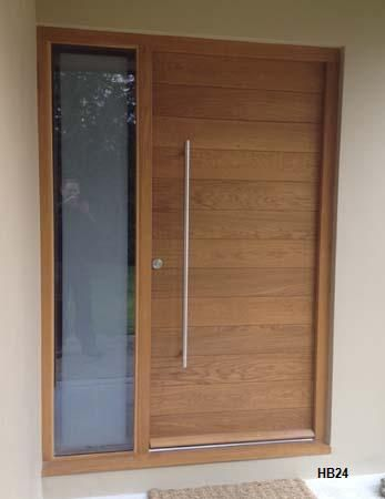 cntemporary oak door one sidelight