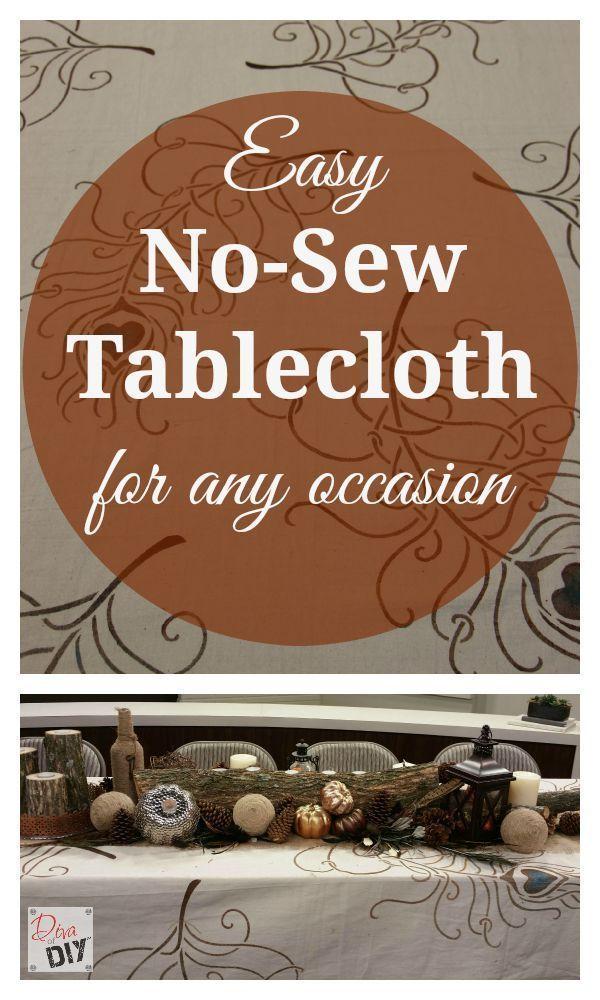How To Make A Drop Cloth Tablecloth
