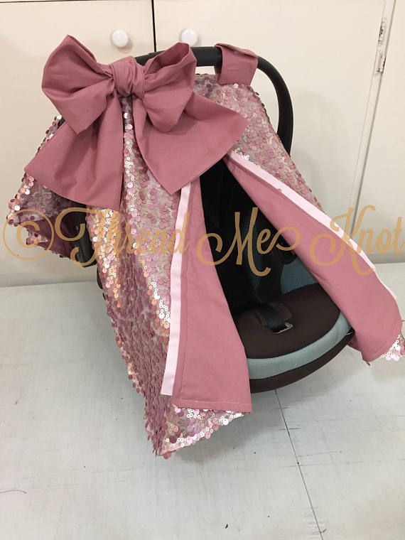 SALE PRICE LUX Dusty Rose & Light Gold Car Seat Canopy with