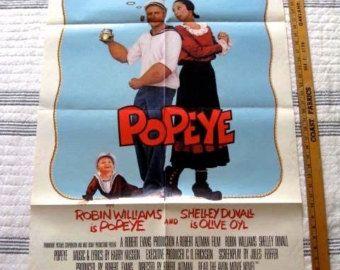 "POPEYE   Original  Movie Poster  Robin Williams 1980  ONE SHEET 27"" X 41"" Comedy Disney"