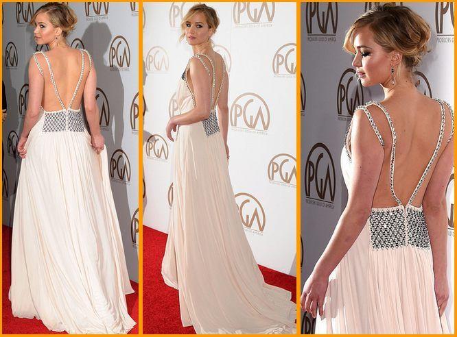 Jennifer Lawrence Stuns In Prada Gown  #JenniferLawrence #Prada #Gown #jenniferlawrencestyle