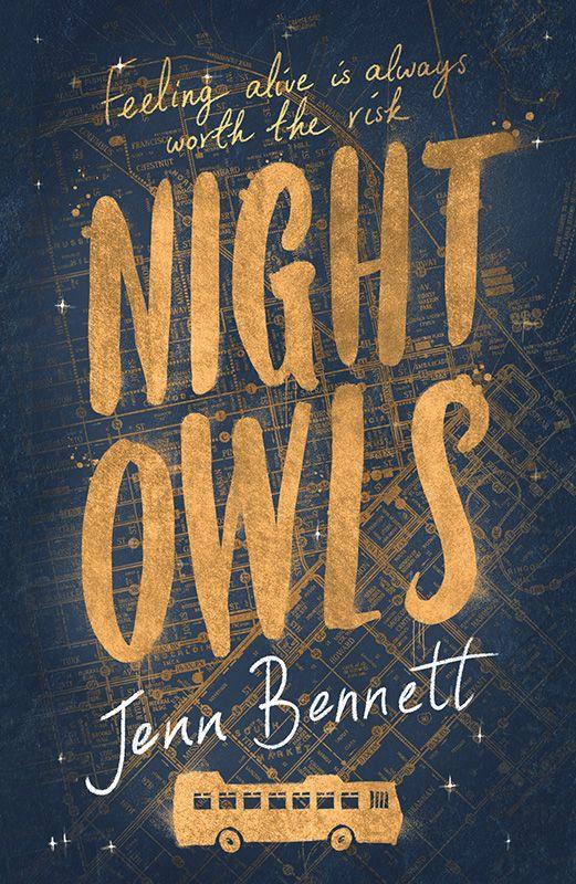 Book cover by Leo Nickolls | Night Owls by Jenn Bennett