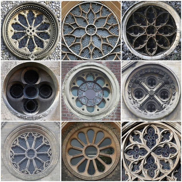 Church Round Windows- by, Leo Reynolds