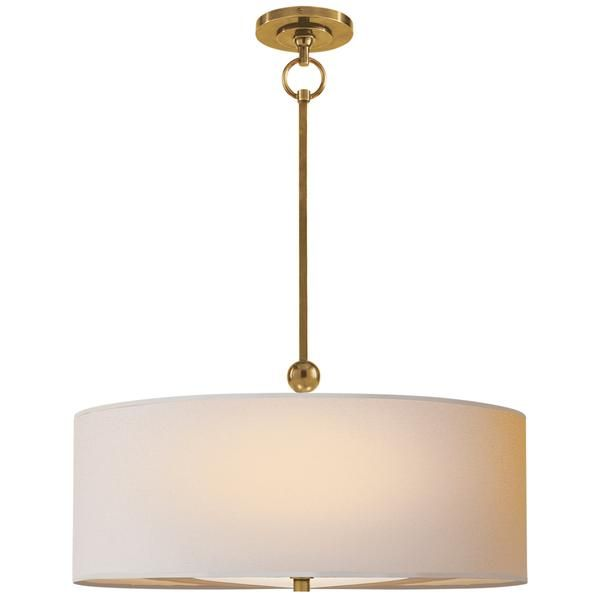 Visual Comfort Tob 5011hab Np Thomas O Brien Reed Hanging Shade In Hand Rubbed Antique Brass Ceiling Lights Visual Comfort Modern Ceiling Light