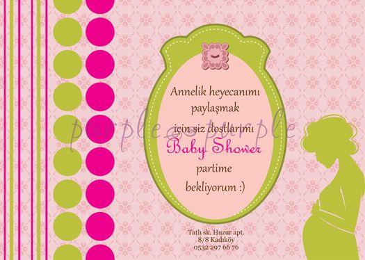 Romantik bir baby shower davetiyesi-kız bebek versiyonu