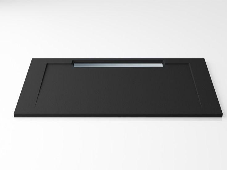 Edoné by Agorà Group Piatto doccia antiscivolo rettangolare PETRA Y disponibile Liscio e Texture ardesia nei 6 colori di serie e in tutta la scala Ral.