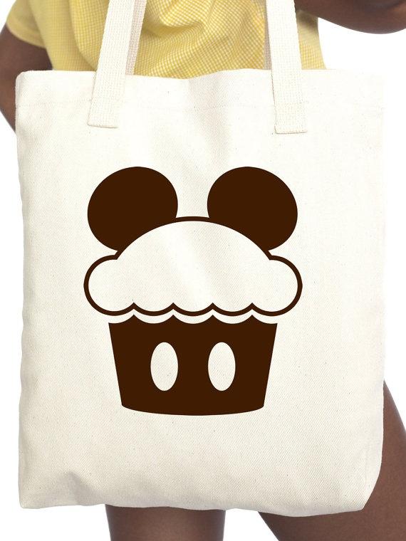 Mickey Cupcake Tote Bag
