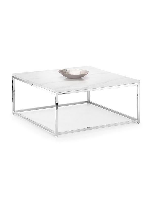 Julian Bowen Scala Large Square Coffee Table Large Square Coffee Table Steel Coffee Table Table