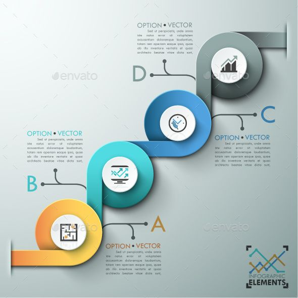 Modern Infographic Options Template — Photoshop PSD #education #business • Available here → https://graphicriver.net/item/modern-infographic-options-template/13872213?ref=pxcr