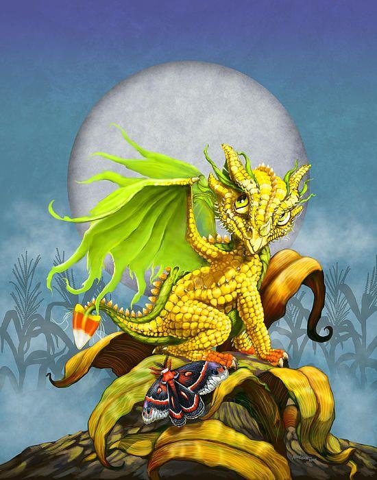 Cute corn dragon by Stanley Morrison