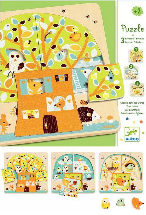 Djeco 3 layer puzzle : Très beau puzzle et aussi bien utilisé