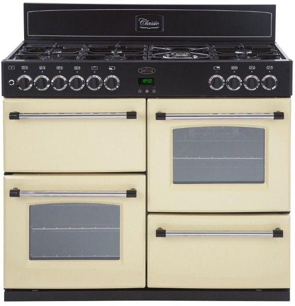 Belling Classic 100DFT Dual Fuel Range Cooker Belling Classic 100DFT Dual Fuel Range Cooker with 100CHIM Black Chimney Hood- Cream Features Main Oven Energy Efficiency: A Second Oven Energy Efficiency: A No Of Ovens: 2 Hob Type: 7 Gas Burners Ove http://www.MightGet.com/february-2017-2/belling-classic-100dft-dual-fuel-range-cooker.asp