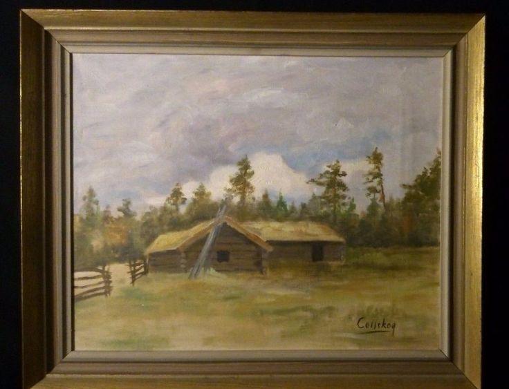 Martin Collskog (1906 - 1985) Swedish painter Stockholm oil on canvas old