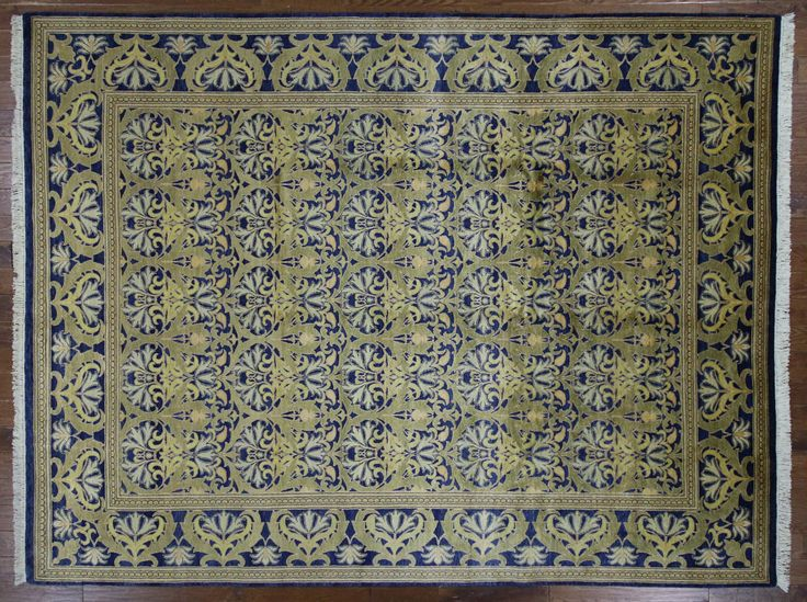 Navy Blue Peshawar Oushak Collection Chobi 9'x12' Hand Knotted Wool Rug H9735 $4,082.40