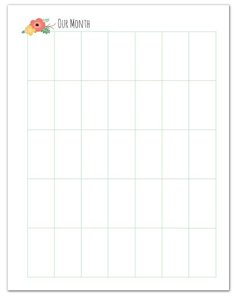 Free Printable Blank, Vertical Monthly Planner + More Free Home Management Binder Printables  //  fabnfree.com