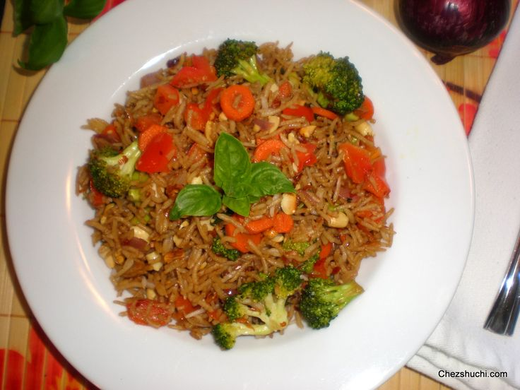 Thai style fried rice!! A delicious vegetarian delicacy!