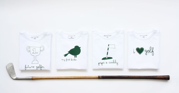Newborn baby t-shirts. The perfect baby shower gift for golf loving parents! As we say; Big golfers come in small packages ;-)