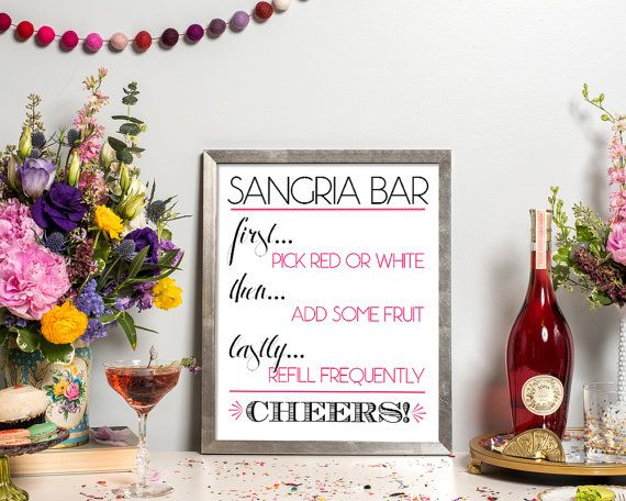 the 25 best sangria bar ideas on pinterest bridal shower drinks wedding showers and bridal games. Black Bedroom Furniture Sets. Home Design Ideas