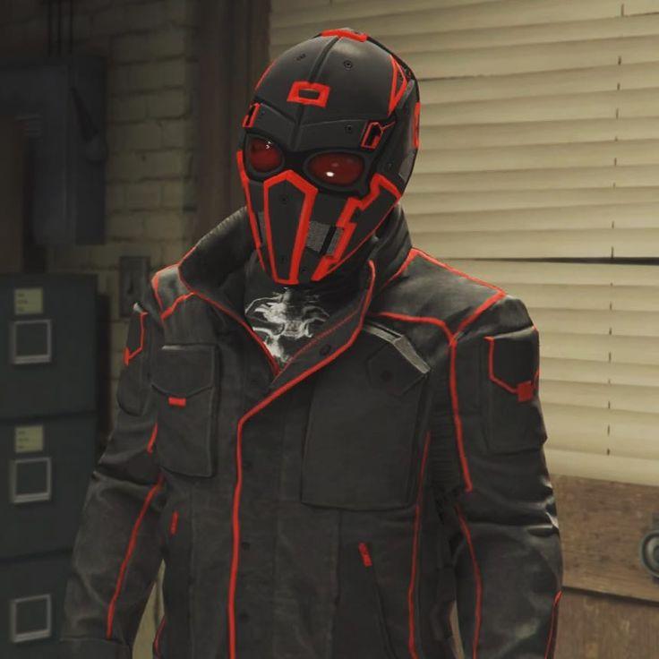 A screenshot of my character from GTA online. Fuck yea! #gta #gta5 #gta5online #rockstar #badass #mask #doomsday #metalasfuck #killer #nerd #arson