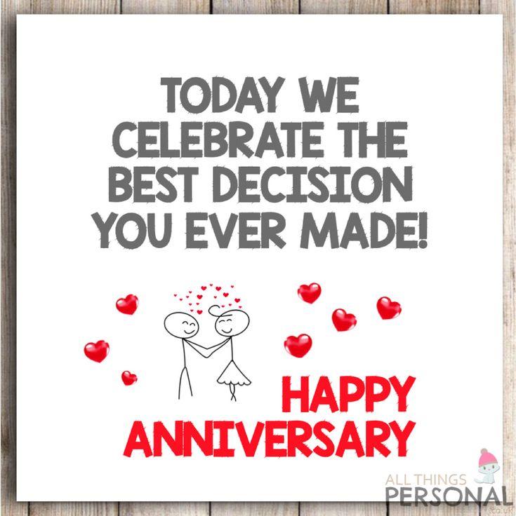 Funny anniversary card humour cheeky husband wife wedding