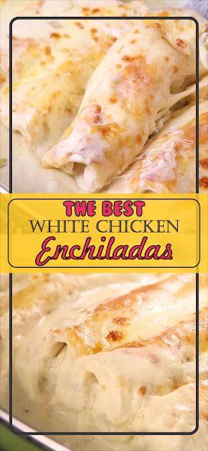White Chicken Enchiladas | Floats CO #chicken #chi…