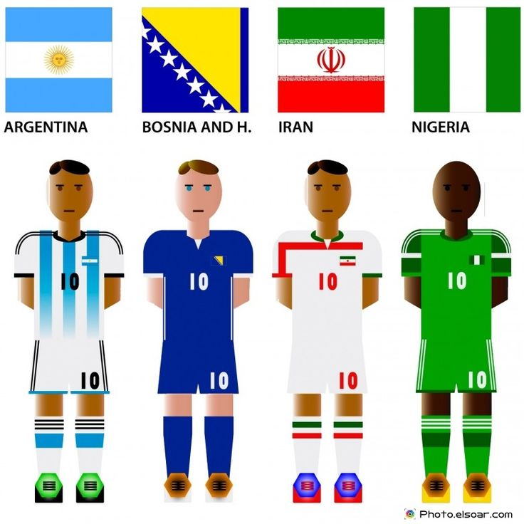 #WorldCup 2014 Group F Teams with #Flags: Argentina, Bosnia and Herzegovina, Iran, Nigeria